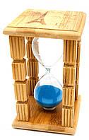 """Часы песочные в бамбуке """"Париж"""" (15 мин)(14,5х9х9 см)"""