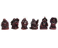 Хотеи (набор 6шт) коричневые каменная крошка (h-3 см коробка 18х3,5х2 см)