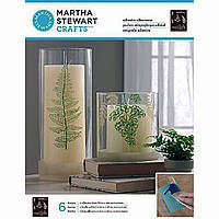 Трафарет для керамики и стекла Martha Stewart Crafts - Ferns Glass Silkscreen 33245