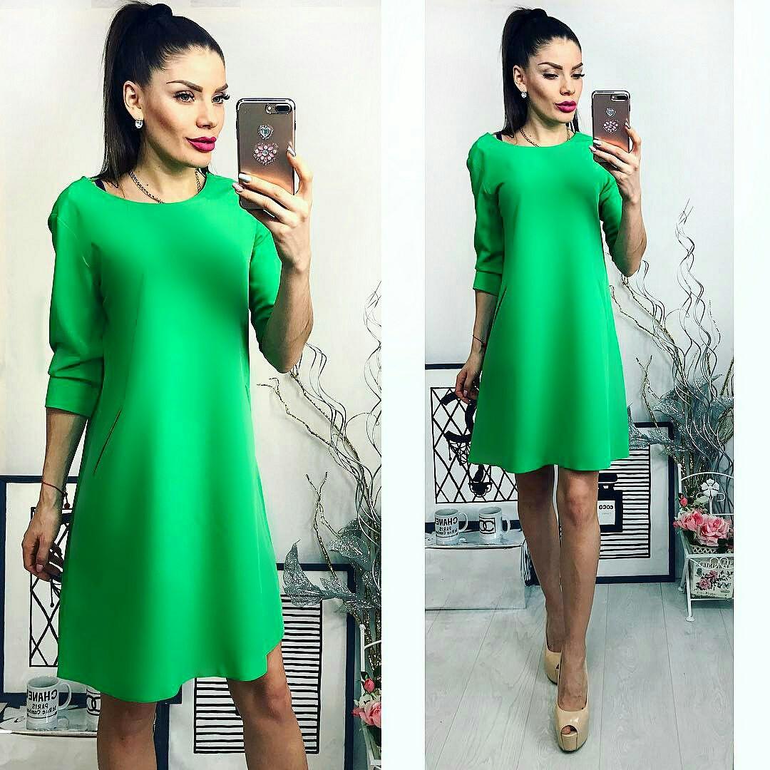 """Платье женское, модель 769, цвет """"трава"""""""