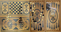 Нарды+шахматы из бамбука (60*30 см) (Fine)