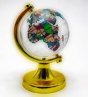 Глобус хрустальный цветной (4)(7х4,5х4,5 см)