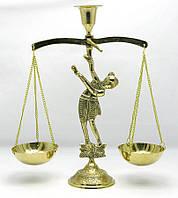 "Подсвечник ""Весы"" бронзовый  (27х20х7,5 см)"