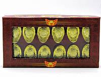 Чаша богатства золотая (н-р 12 шт)(14х8х2,5 см)