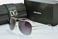 Солнцезащитные очки Dolce & Gabbana черные в серебристой оправе