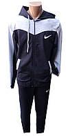 Спортивный костюм мужской 0485 с капюшоном nike полу батал (деми)