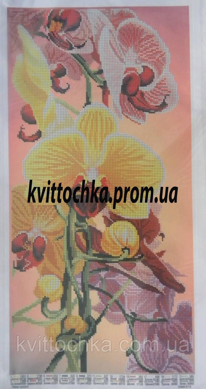 """Схема для вышивки бисером """"Панно орхидей"""""""