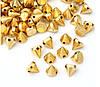 Шипы конусы пришивные 10х8 мм золото