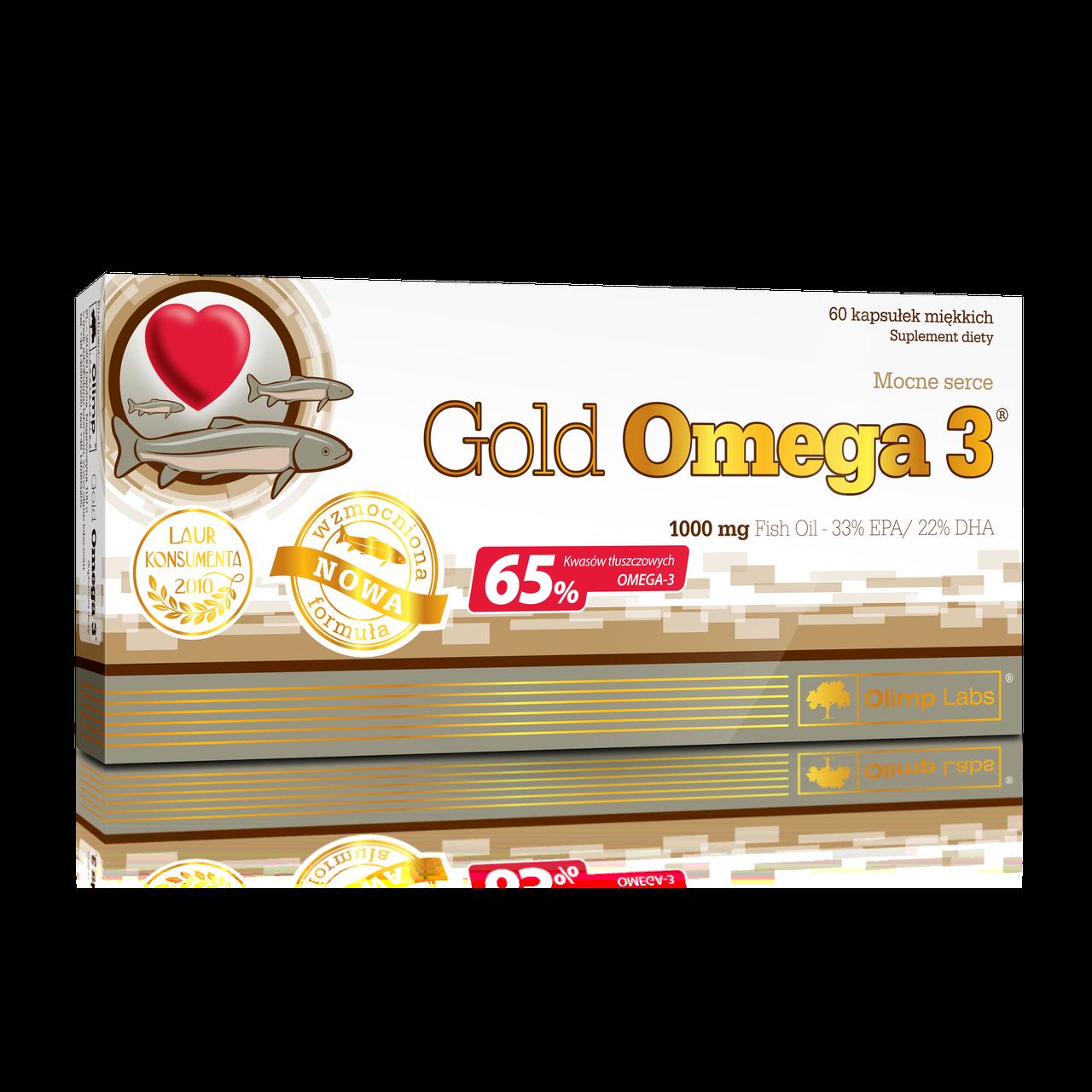 Жирные кислоты Olimp Gold Omega3 65% 60 caps