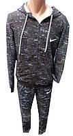 Спортивный костюм мужской 0507 с капюшоном nike полу батал (деми)