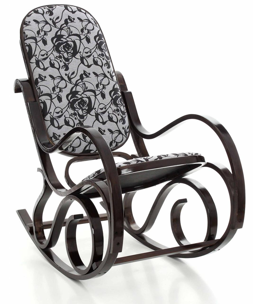 Кресло качалка темное узор XXL
