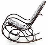 Кресло качалка темное узор XXL, фото 4