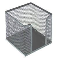 Бокс для бумаги металлическая сетка 100*100*100 серебристый