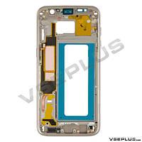Средняя часть Samsung G935 Galaxy S7 Edge Duos, золотой