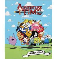 Дневник школьный интегральная обложка УФ-лак Kite Adventure Time