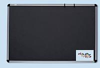 Доски для объявлений текстильные Алюминиевая рама - 100х150 см. Цвет - серый.