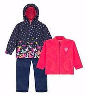 Демисезонный комплект 3 в 1 для девочки 3-10 лет (Р. 98-140, куртка, флисовая кофта, брюки) ТМ Deux par Deux W51-878