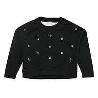 Джемпер Blukids черный с цветами из стразов, р. 158 1381770 ТМ: BluKids