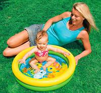 Детский надувной бассейн INTEX 59409 Круг, мини, «Ципленок» 61-15см IKD /21-2
