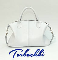 Женская сумка с короткими ручками из натуральной кожи