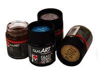 Краска витражная на основе раств.холодной фиксации Желтая 50мл Glas Art Marabu 130205420