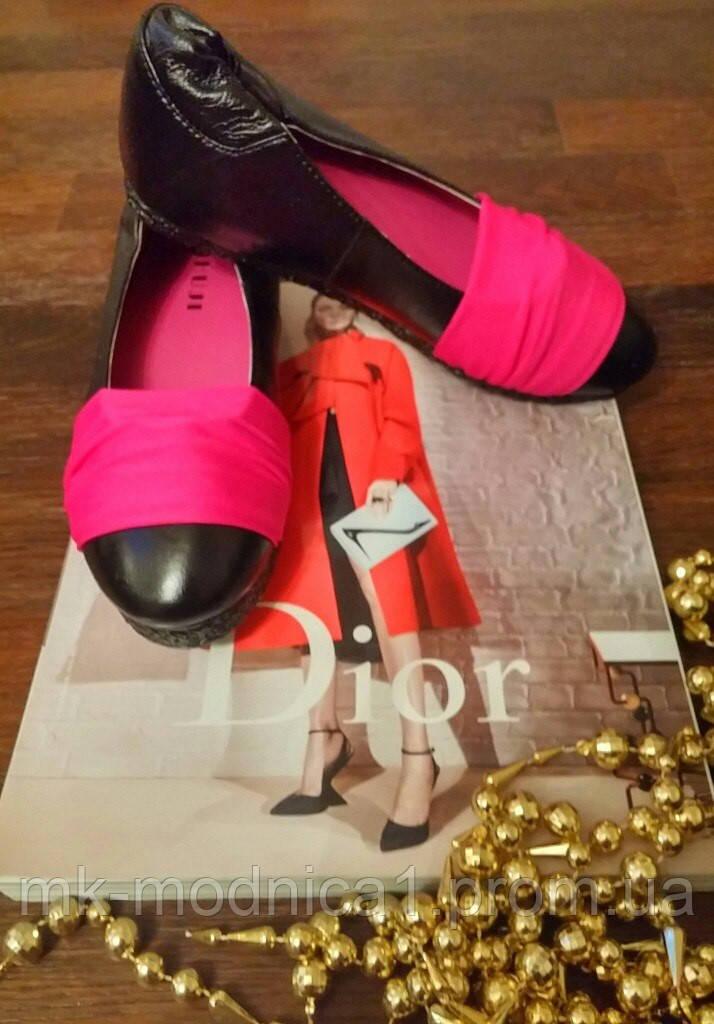 Балетки Кожа стрейч розовый