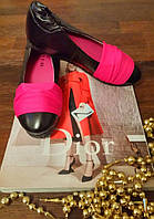 Балетки Кожа стрейч розовый, фото 1