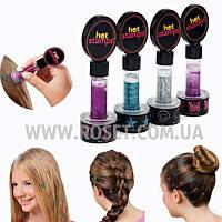 Фигурные тату-печатки для волос - Hot Stamps Hair Glitter