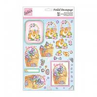 """Набор бумажных вырезок для создания 3 Д открытки """"Easter Baskets"""" А4 (21*29,7см) Docrafts"""