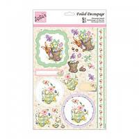 """Набор бумажных вырезок для создания 3 Д открытки """"Watercolour Animals"""" А4 (21*29,7см) Docrafts"""