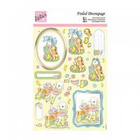 """Набор бумажных вырезок для создания 3 Д открытки """"Animal Friends"""" А4 (21*29,7см) Docrafts"""