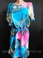 Молодежные платья с пояском из хлопка., фото 1