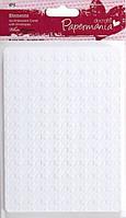 """Набор заготовок для открыток """"Квадратики"""" с конвертами Белый 4шт А6 300 г/м Docrafts"""