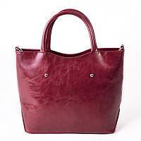 Розово-бордовая деловая женская сумка