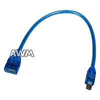 OTG кабель mini USB синий