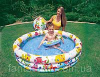 Детский надувной бассейн INTEX 59431 3 кольца 132-28 cм IKD /83-6