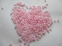 Бісер (бисер) MATSUNO Японія  11 RR 100 грам, № 208, рожевий перлистий