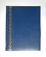 Папка Адресная 221*320 колосок синяя Полиграфист