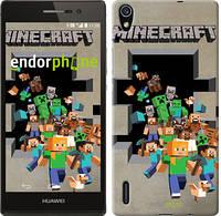 "Чехол на Huawei Ascend P7 Minecraft 6 ""3330c-49"""