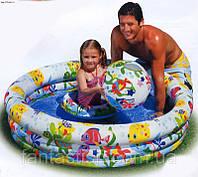 Детский надувной бассейн INTEX 59469 с набором 132-28 см IKD /18-6
