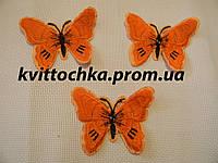 "Нашивка клеевая ""Бабочка"" цвет микс, цена за 6 шт"