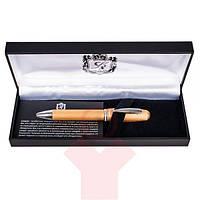 Ручка шариковая Langres Charm с кристаллами Swarovski золото в подарочном футляре