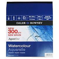 Склейка Aquafine A4 (22,9*30,5см) 300г/м, 12л, среднее зерно, Daler-Rowney
