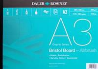 Склейка Bristol A3, 250 г/м 20л, мелкое зерно, Daler-Rowney