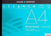 Склейка Bristol A4, 250 г/м 20л, мелкое зерно, Daler-Rowney