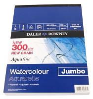 Склейка-блок Aquafine A3 (30*40см)300г/м, 12л, среднее зерно, Daler-Rowney