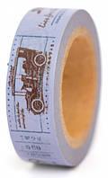 Скотч декоративный бумажный Почтовая марка 15мм*10м Margo