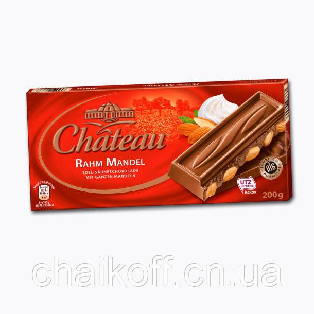 Шоколад молочный  Chateau Rahm Mandel 200 г (Германия)