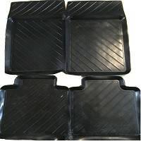 Коврики резиновые черные  Zaz Славута  (4шт.) корыто ROZMA