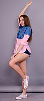 Джаз. Рубашка женская. Розовый., фото 1